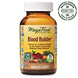 MegaFood, Blood Builder, Daily Iron Supplement and Multivitamin, Supports Energy and Red Blood Cell Production Without Nausea or Constipation, Gluten-Free, Vegan, 90 tablets (90 servings)