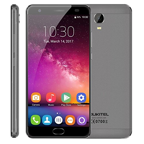 OUKITEL K6000 Plus 4GB+64GB 5.5 Inch Android 7.0 MTK6750T Octa Core up to 1.5GHz WCDMA & GSM & FDD-LTE (Grey)