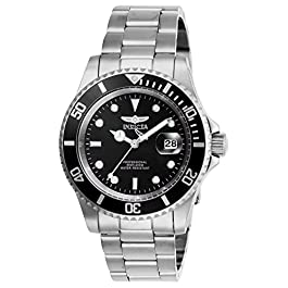 Invicta Men's Pro Diver Quartz Watch with Stainless Steel Strap, Silver, 20 (Model: 26970) title
