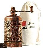 Bazaar Anatolia Turkish Handmade Grinder 3.0'', Spice Grinder, Salt Grinder, Pepper Mill (Antique Copper)
