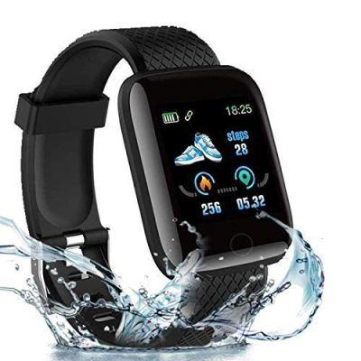 Rhobos [ONE Day Festival Sale] D116 Intelligence Bluetooth Monitor/Smart Bracelet/Health Bracelet/Smart Watch for Men/Activity Tracker/Bracelet Watch for Men/Smart Fitness Band/BP Monitor – Black