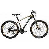 Murtisol Mountain Bike Men's and Women's Bike Fast Speed 27.5'' 21 Speed Hybrid Bicycle Steel Frame Commuter Bike, Orange Black