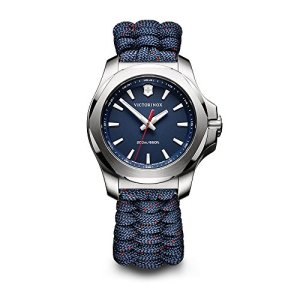 Victorinox Swiss Army Women's 241770 I.N.O.X. Watch with Blue Face and Blue Paracord Strap
