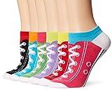 K. Bell Women's 6 Pack Novelty No Show Low Cut Socks, Sneakers (Assorted), Shoe Size: 4-10