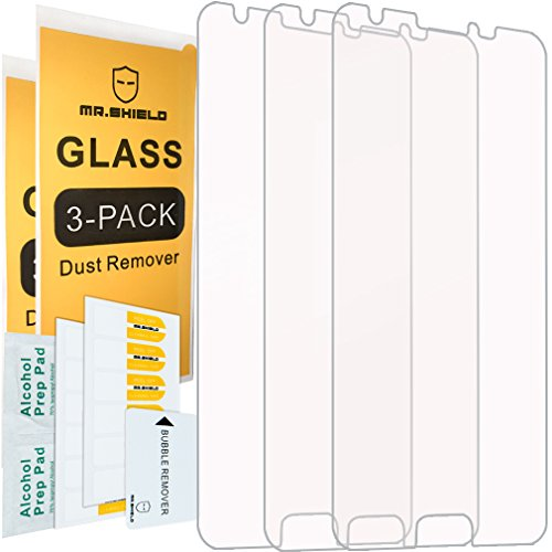 [3-Pack]-Mr.Shield for Samsung Galaxy J3 Luna Pro 4G LTE [Tempered Glass] Screen Protector with Lifetime Replacement
