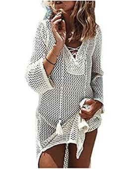 Women's Fashion Swimwear Crochet Tunic Cover up/Beach Dres