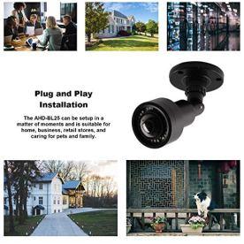 CCTV-Camera-Pros-AHD-BL25-Wide-Angle-Security-Camera-180-Degree-Color-IndoorOutdoor-Bullet-1080p-HD-TVI-AHD-CVI-CVBS-IR-BNC-Black-Weatherproof-Housing