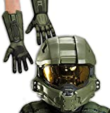 Halo: Master Chief Child Full Helmet and Gloves Bundle