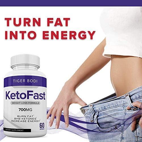 (2 Pack) Keto Fast Diet Pills, Keto Fast 700 mg Burn Capsules - Pure Keto Fast Supplement Burning for Energy - BHB Ultra Boost Exogenous Ketones for Rapid Ketosis for Men Women 8
