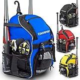 DashSport Baseball Bag Softball Backpack Bat Bag | T-Ball Equipment and Softball Bag | Bat Pack (Blue)