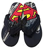 Mens Superman Comic Flip Flop Sandal (L 11/12)