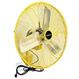STANLEY ST-24WOSC High Velocity Oscillating Wall Mount Fan 24' Yellow, Black