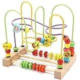 Wondertoys Preschool Fruit Bead Maze Roller Coaster Educational Toys for 1 2 3 Years Old Boys Girls