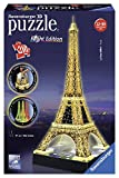Ravensburger Eiffel Tower - Night Edition - 216 Piece 3D Jigsaw Puzzle for Kids and Adults - Easy Click Technology Means Pieces Fit Together Perfectly