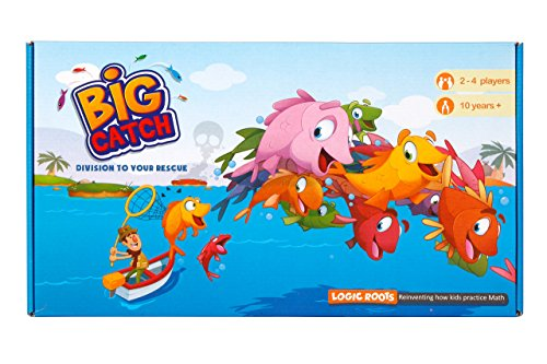 Logic Roots Big Catch Advanced Division Board Game Stem Toy Maths Resource
