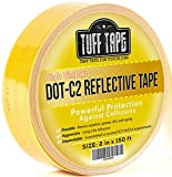 DOT Reflective Tape - YELLOW - DOT-C2 Conspiciuity Tape - COMMERCIAL ROLL - 2' inch x 150' FEET - School Bus Truck Trailer Boat Semi - Diamond Grade