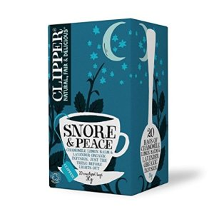 Clipper Fair Trade Organic Tea, Snore and Peace, 20 Count (Pack of 6)