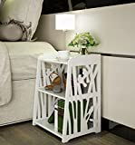 Product review for Mybestfurn Small Plastic-Wood White Bed End Table Nightstand Bathroom Cabinet Kids Furniture Table Bookcase 16X12X20' - White MB271