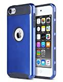 ULAK iPod Touch 7 Case,Pod Touch 5/6th Generation Case, Dual Layer Slim Protective Hybrid iPod Touch Case Hard PC Cover for Apple iPod Touch 5/6/7th Gen and iPod Touch (2019), Navy Blue/Black