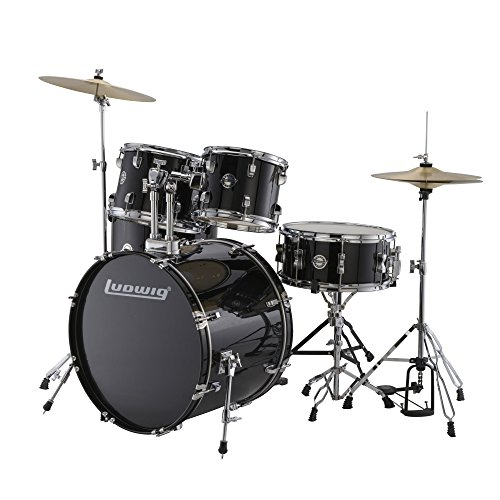 Ludwig LC17011 Accent Fuse 5 PC Drum Set in Black