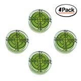 32mm Circular Bubble Spirit Level BY GFNT for Tripod, Phonograph, Turntable Etc (4-Pack Green)