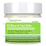 Dr. Entre's Foot Balm: Organic Hydrating Antifungal Relief for Dry Cracked Heels, Callused Feet, Athletes Foot, Toenail Fungus, and Bunions - Essential Oil Based Cream - Satisfaction Guaranteed