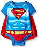 Warner Bros. Superman Baby Boys' Bodysuit with Cape, Blue, 6-9 Months
