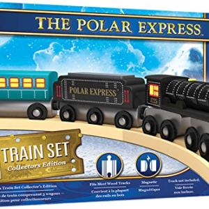 MasterPieces The Polar Express Real Wood Toy Train Set 51qrpjUvx6L