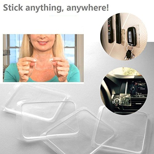 Howley 5 Pcs Grip Sticky Anti Slip Pads Kitchen Car Holder Super Easy Gripping Pad
