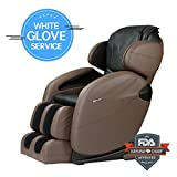 Space-Saving Zero Gravity Full-Body Kahuna Massage Chair Recliner LM6800 with Yoga & Heating Therapy (Brown WG)