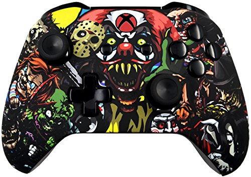 5000+ Modded Xbox One Controller for All Shooter Games - Soft Touch Shell - Added Grip for Longer Gaming Sessions - Multiple Colors Available (Scary Party)