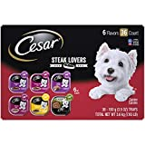 CESAR Steak Lover's Adult Wet Dog Food Variety Pack Trays 3.5 Ounces 6 pack - 36 count