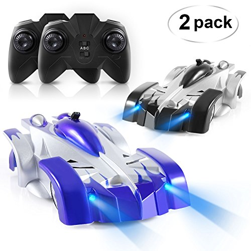 ANTAPRCIS Remote Control Car - Set of 2 RC Car Toy, Rechargeable Dual Mode 360° Rotating Stunt Racing Vehicle, Birthday Gift for Kids Boy Girl, Black & Blue