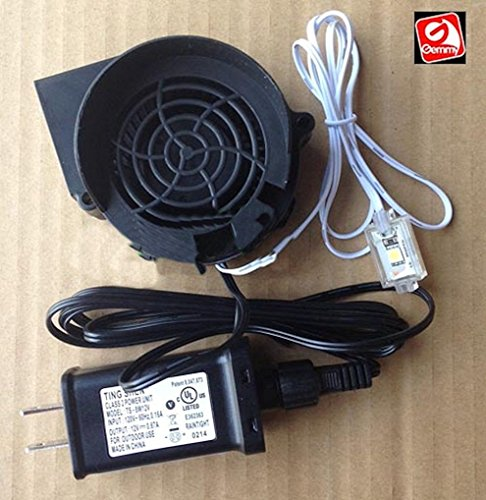 Replacement Fan Blower for Gemmy Inflatable with 32 inch light string - 0.5a with 12v/0.67a Adapter - Model JDH7530S