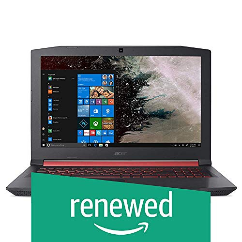 (Renewed) Acer Nitro 5 AN515-52 15.6-inch Gaming Laptop (8th Gen Intel Core i7-8750H/NVIDIA GTX Graphics 1060 6GB GDDR5 VRAM/8GB/1TB + 128GB SSD), Shale Black 55