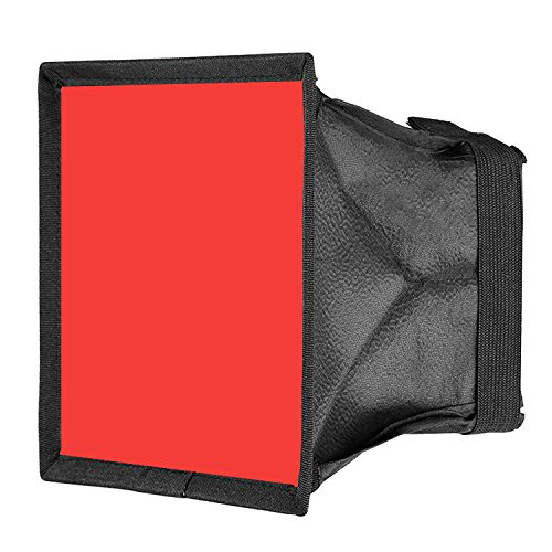 Neewer-59x67-inches15x17-Centimeters-Camera-Collapsible-Diffuser-Mini-Softbox-for-CN-160-CN-126-and-CN-216-LED-Light-Red