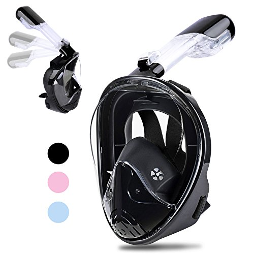 Greatever Newest Version View Panoramic Snorkel Mask