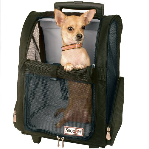 Snoozer Roll Around 4-in-1 Pet Carrier, Black, Large
