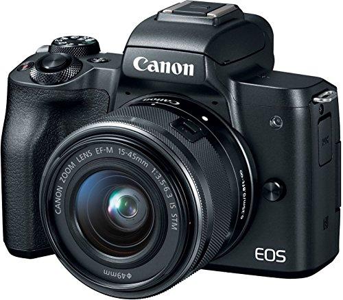 Canon EOS M50 Mirrorless Vlogging Camera Kit with EF-M 15-45mm Lens, Black 1