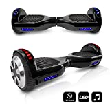 CHO Electric Self Balancing Dual Motors Scooter Hoverboard with Built-in Speaker and LED Lights - UL2272 Certified