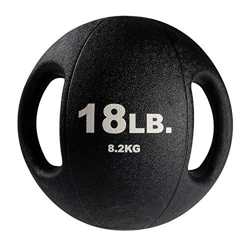 Body-Solid Tools BSTDMB18 18-Pound Dual Grip Medicine Ball