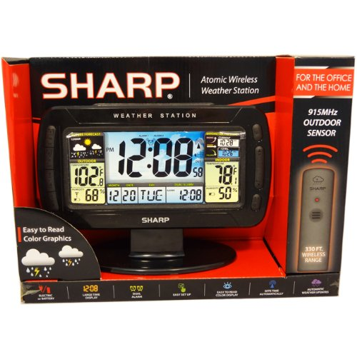 Sharp Digital Atomic Weather Station Clock