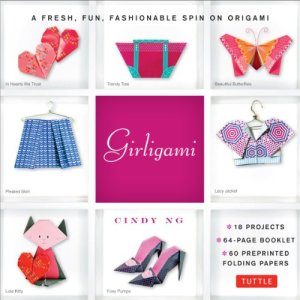 Girligami Kit: A Fresh, Fun, Fashionable Spin on Origami: Origami for Girls Kit with Origami Book, 60 High-Quality…