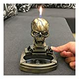 Skull Shape Novelty Cigarette Cigar Ashtray Ash Tray with Lighter