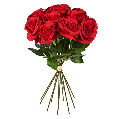 12 count fake flowers silk red roses artificial flower bouquet 12 count fake flowers mightylinksfo