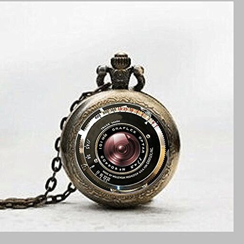Cool gifts for photographers and camera lovers 3 quarters today vintage camera pendant antique camera lens pendant gray black pendant pocket watch vintage camera aloadofball Gallery