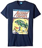 DC Comics Men's Superman Action No. 1 T-Shirt, Navy, Medium