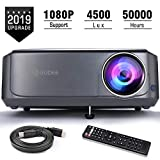 Video Projectors, GuDee Full HD Movie Projector for Home Theater, 4500L Overhead Projector for Business PowerPoint Presentations, Compatible with Laptop, Smartphone, HDMI, USB