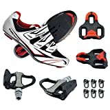 Venzo Road Bike Compatible with Shimano SPD SL Look Cycling Bicycle Shoes & Pedals 41