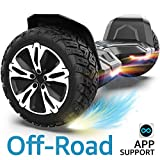 Gyroor Warrior 8.5 inch All Terrain Off Road Hoverboard with Bluetooth Speakers and LED Lights, UL2272...